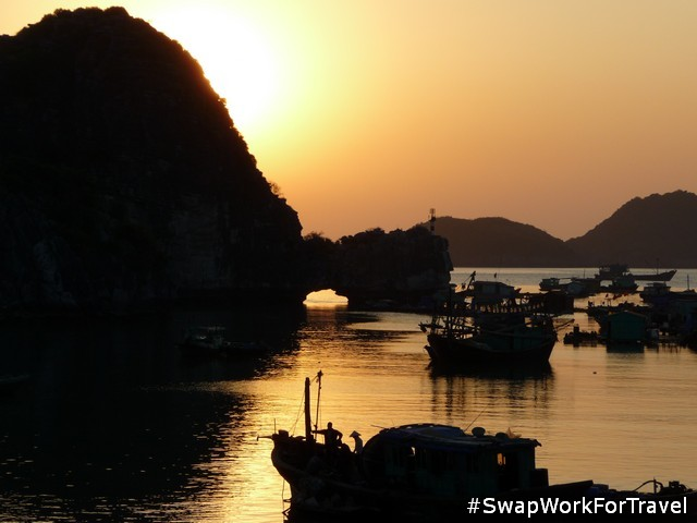 Swapping in Cat Ba Island