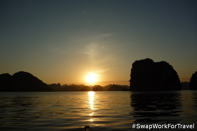 Swapping in Ha Long Bay